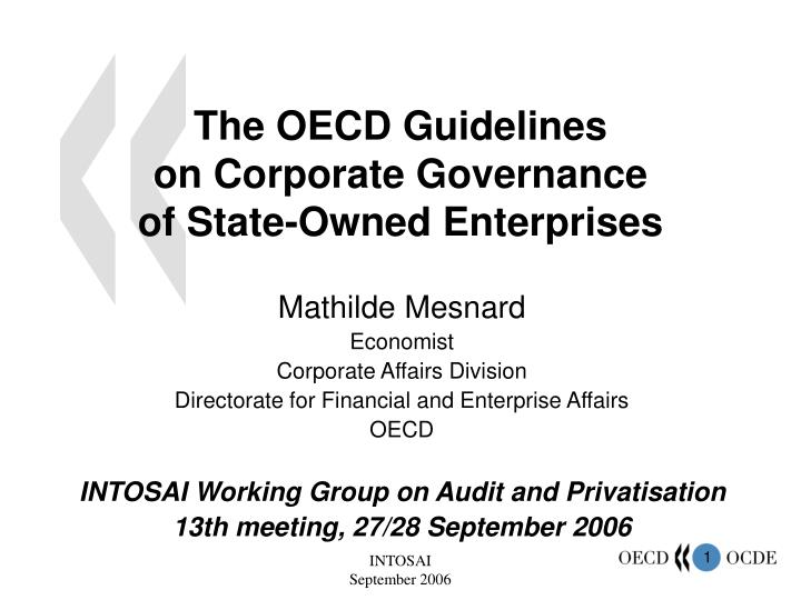 The oecd guidelines on corporate governance of state owned enterprises