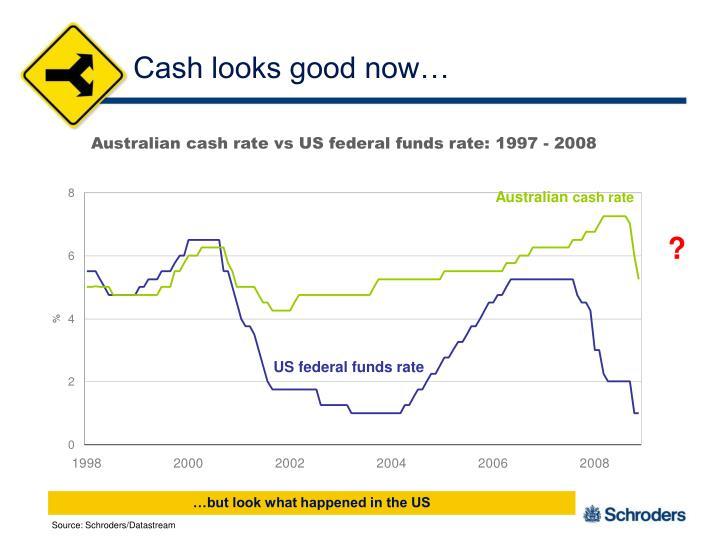 Cash looks good now…