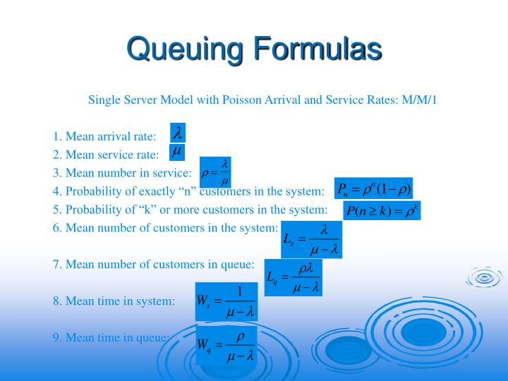 Queuing Formulas