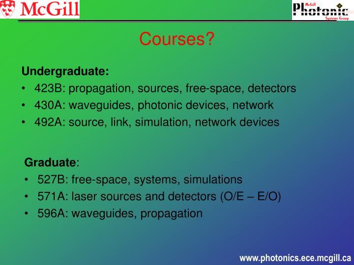 Undergraduate: