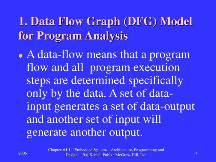 1. Data Flow Graph (DFG) Model for Program Analysis