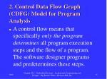 2 control data flow graph cdfg model for program analysis