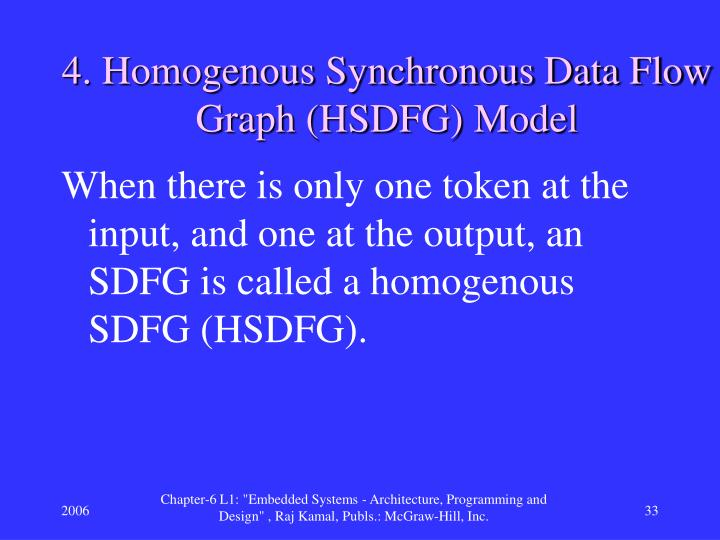 4. Homogenous Synchronous Data Flow Graph (HSDFG) Model