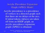 acrylic precedence expansion graph apeg model