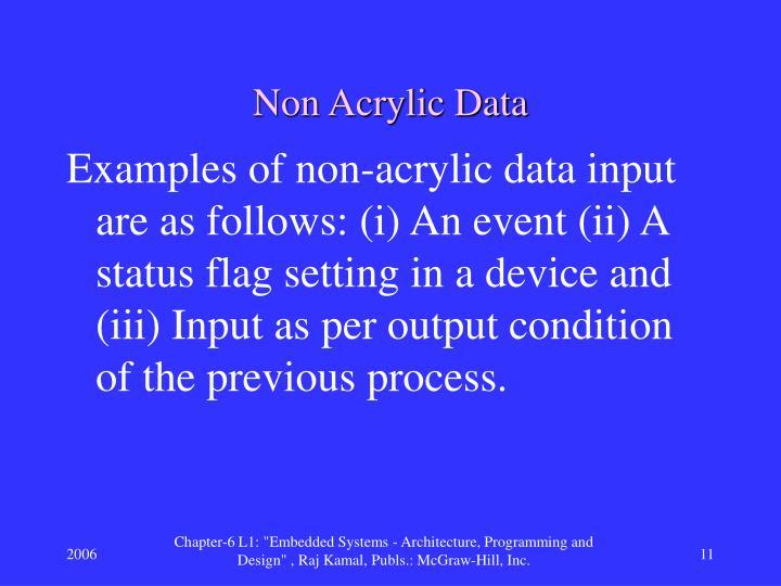 Non Acrylic Data