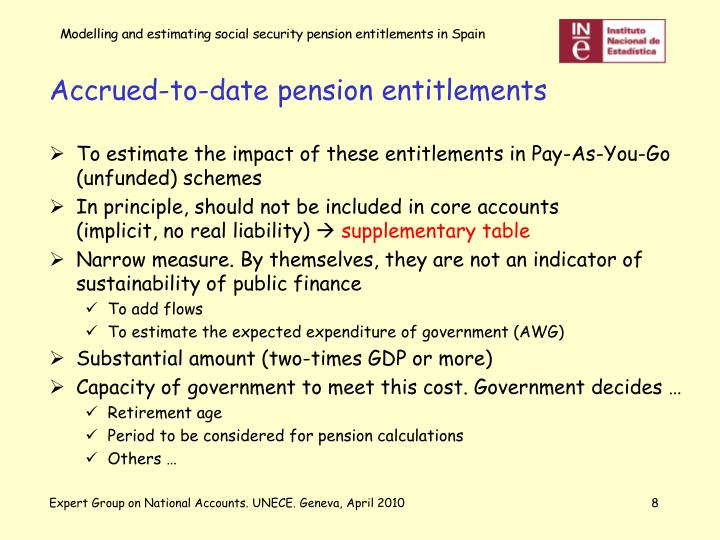Accrued-to-date pension entitlements