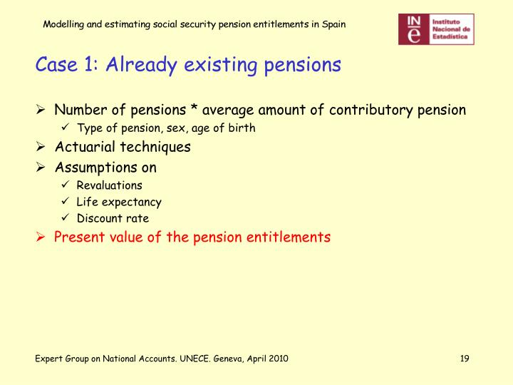 Case 1: Already existing pensions