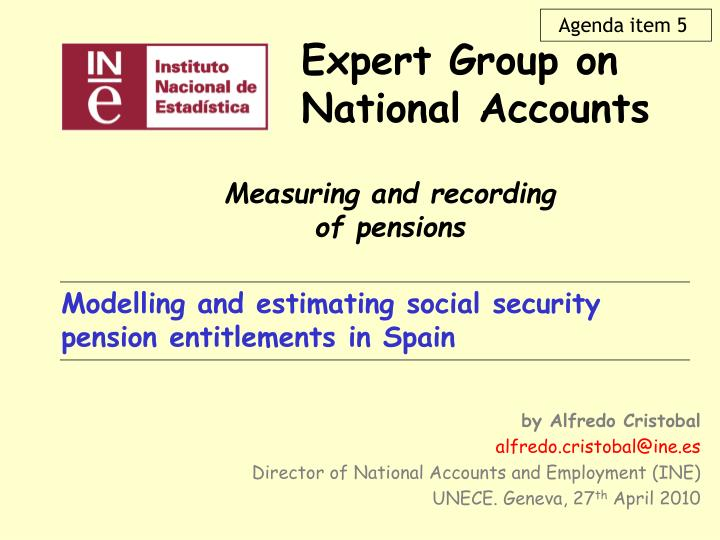 Expert group on national accounts