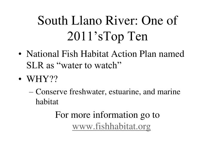 South llano river one of 2011 stop ten
