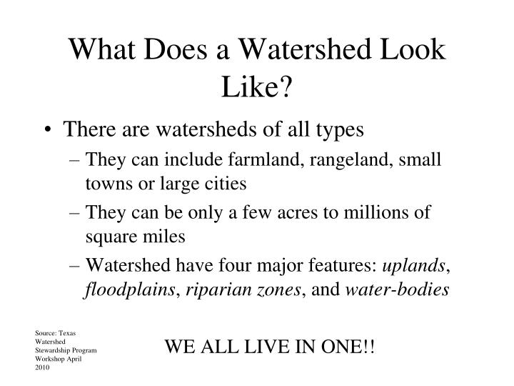 What Does a Watershed Look Like?