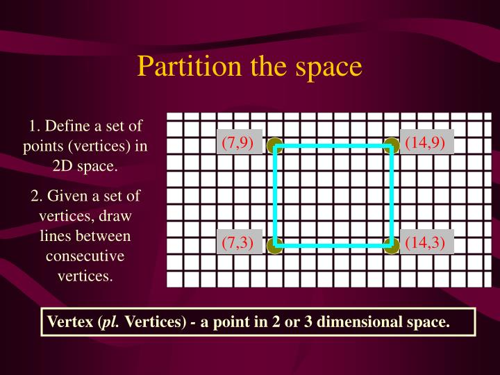 Partition the space