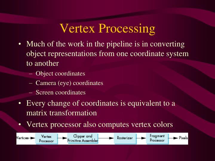 Vertex Processing