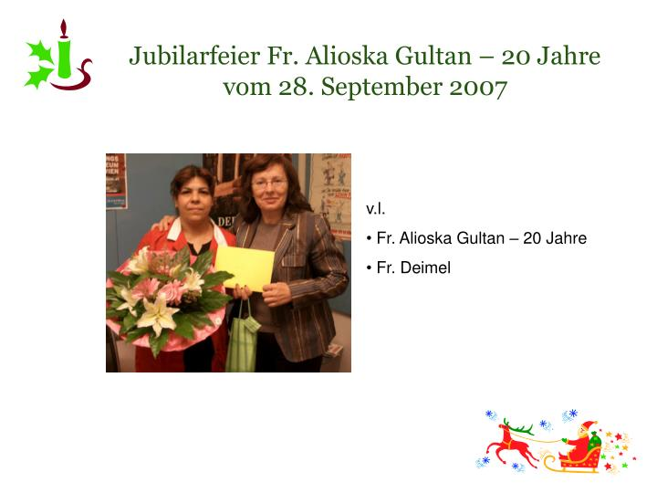 Jubilarfeier Fr. Alioska Gultan – 20 Jahre