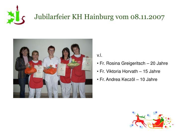 Jubilarfeier KH Hainburg vom 08.11.2007