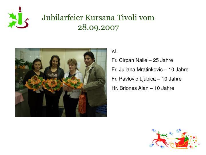 Jubilarfeier Kursana Tivoli vom 28.09.2007