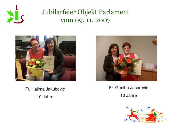 Jubilarfeier Objekt Parlament