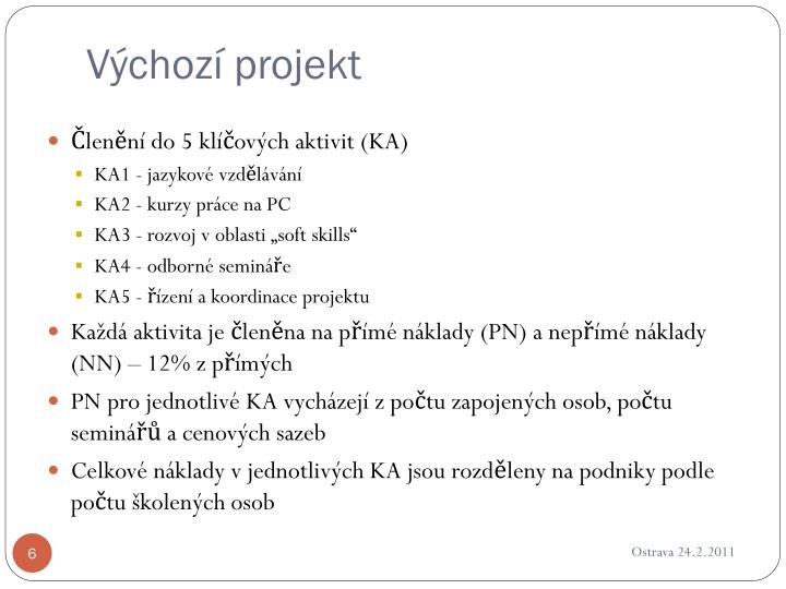 Výchozí projekt