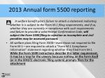 2013 annual form 5500 reporting1