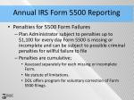 annual irs form 5500 reporting1