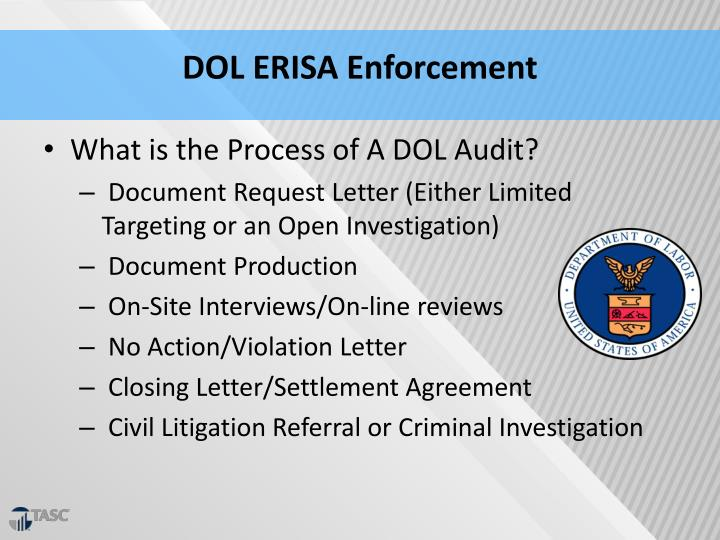 DOL ERISA Enforcement