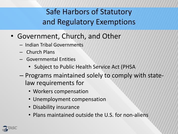 Safe Harbors of Statutory