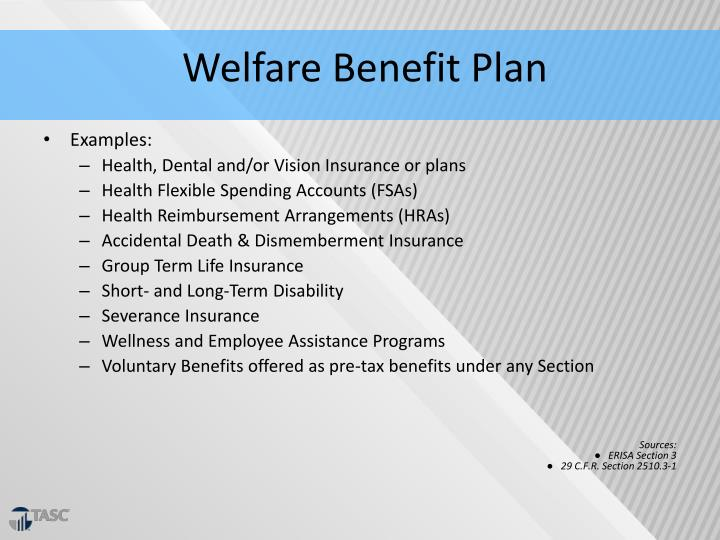 Welfare Benefit Plan