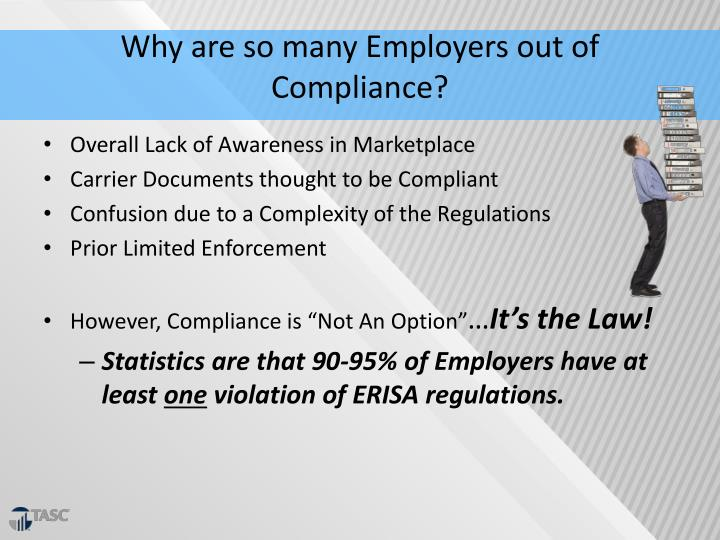 Why are so many Employers out of Compliance?