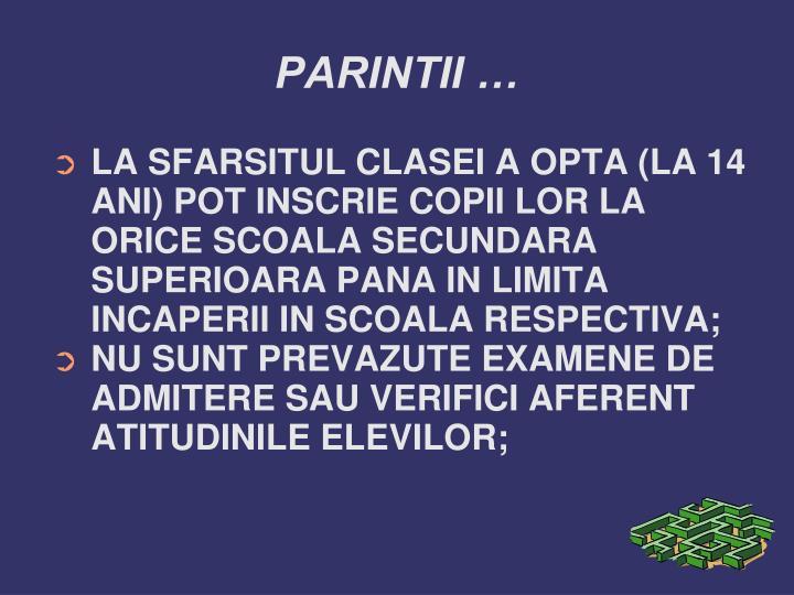 PARINTII …