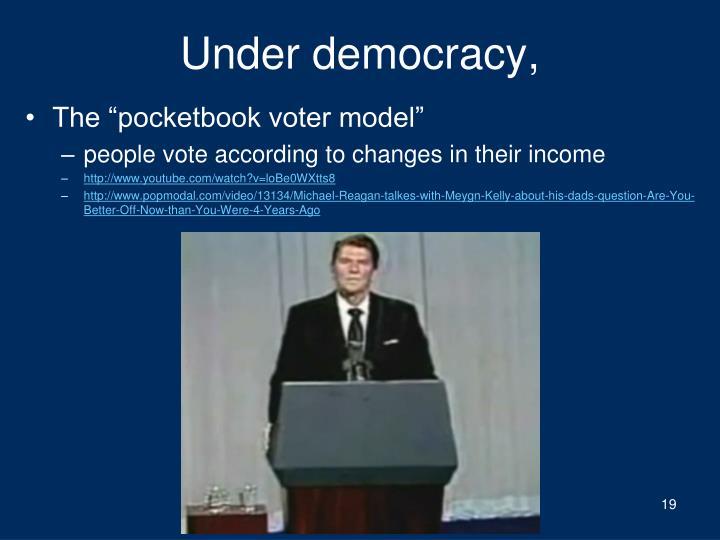 Under democracy,
