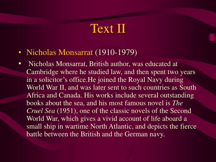 Text II