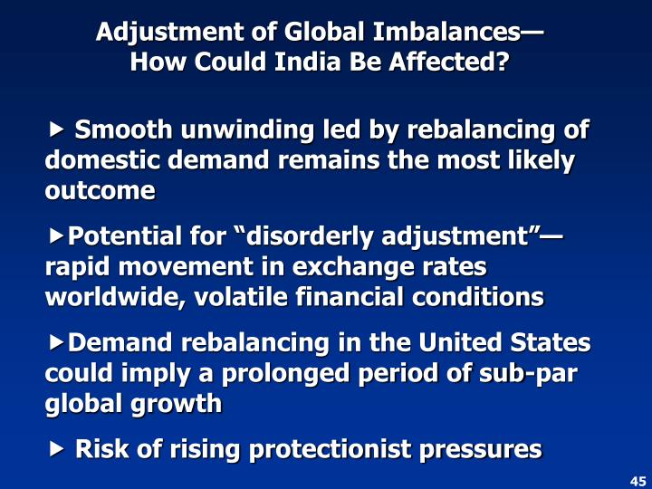 Adjustment of Global Imbalances—