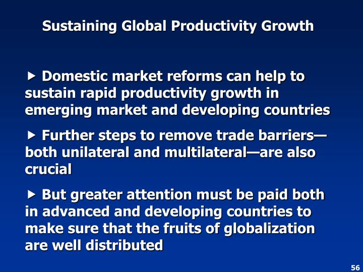 Sustaining Global Productivity Growth