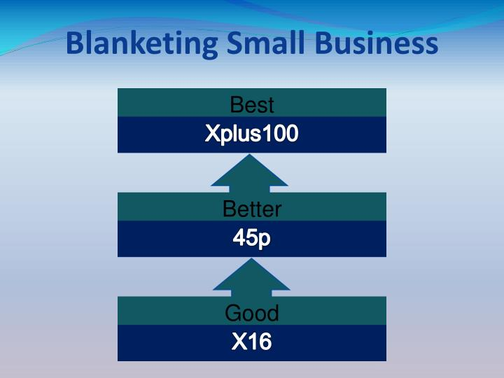 Blanketing Small Business