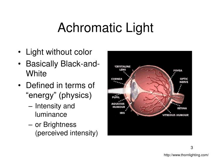 Achromatic light