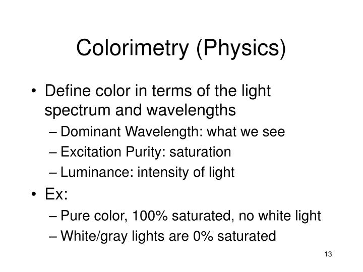 Colorimetry (Physics)