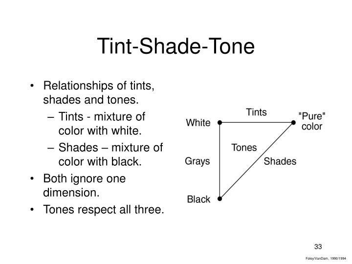 Tint-Shade-Tone