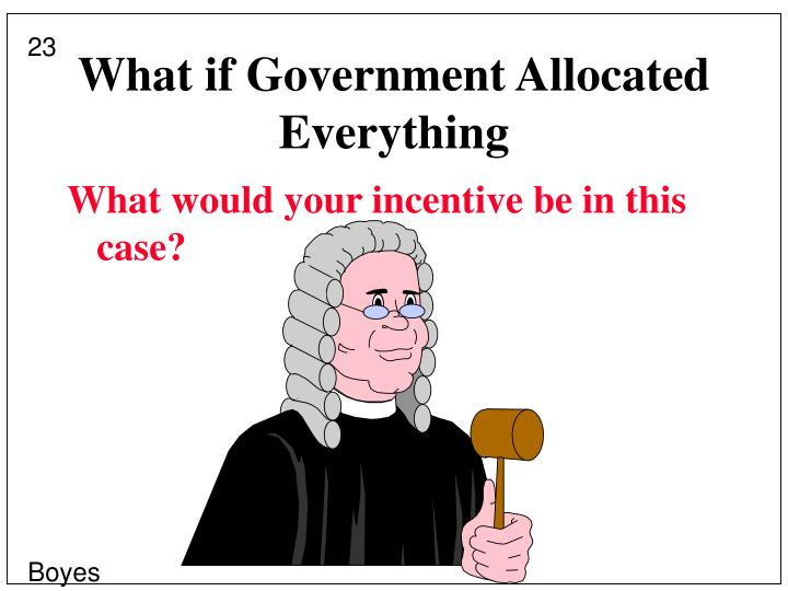 What if Government Allocated Everything