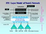 itu layer model of next g network