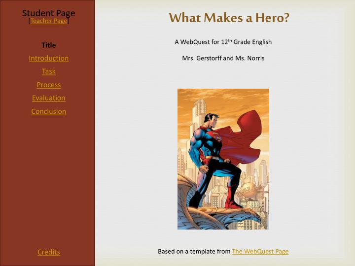 PPT - What Makes a Hero? PowerPoint Presentation - ID:6364604