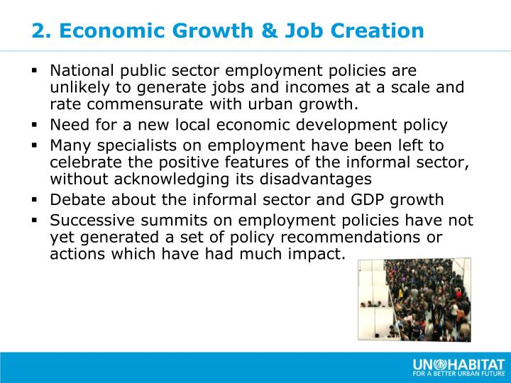 2. Economic Growth & Job Creation