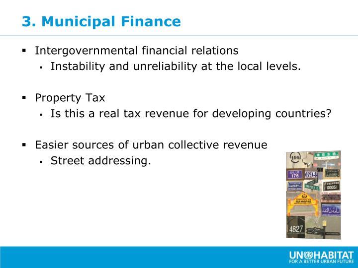 3. Municipal Finance