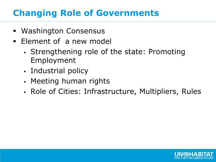 Changing Role of Governments
