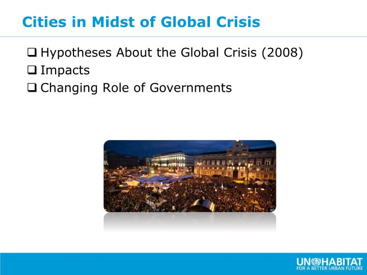 Cities in Midst of Global Crisis