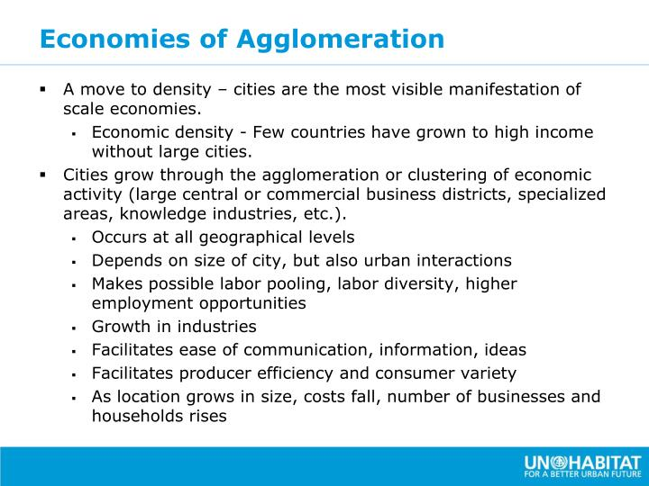 Economies of Agglomeration