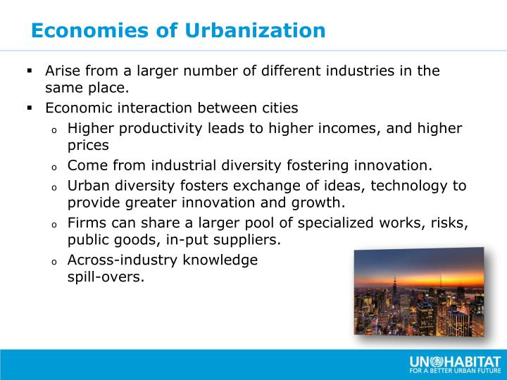 Economies of Urbanization