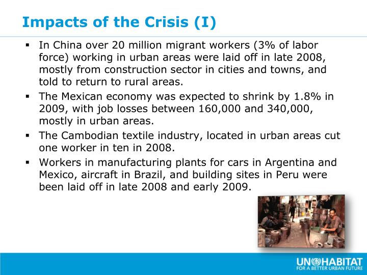 Impacts of the Crisis (I)