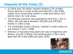impacts of the crisis i