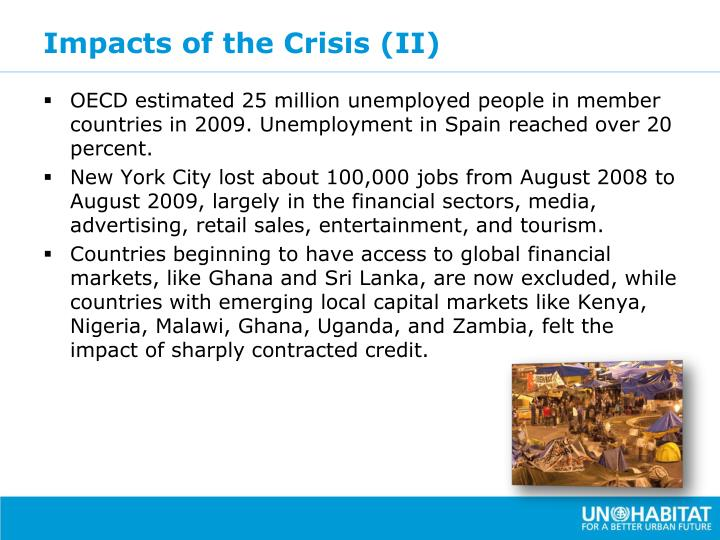 Impacts of the Crisis (II)