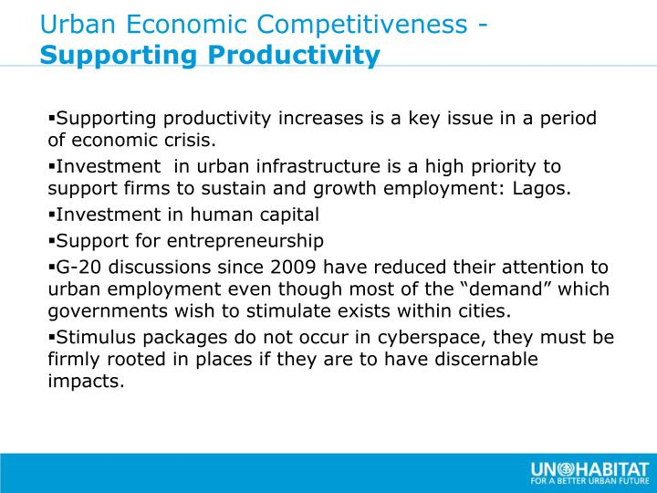 Urban Economic Competitiveness -