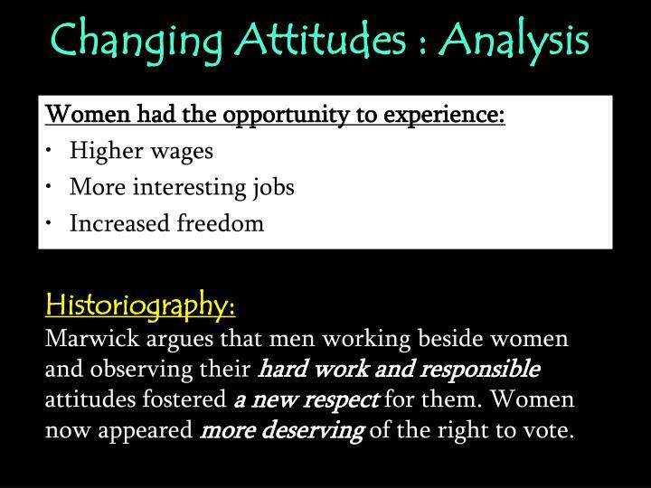 Changing Attitudes : Analysis